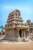 foto of tamil  - Five rathas complex in Mamallapuram - JPG