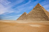 foto of the great pyramids  - The Great Pyramid of a Giza plato - JPG