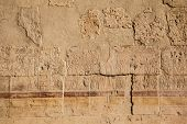 stock photo of hieroglyph  - old egypt hieroglyphs carved on the stone - JPG