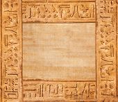 pic of hieroglyph  - old egypt hieroglyphs with place for text - JPG