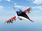foto of fighter plane  - Computer generated 3D illustration with a Fighter Plane - JPG