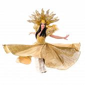 picture of brazilian carnival  - carnival dancer woman dancing with crown - JPG