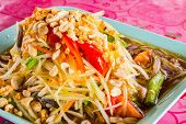 stock photo of green papaya salad  - close - JPG