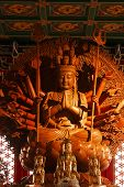 pic of yin  - Guan Yin sculpture Thousand Hand carved of wood - JPG