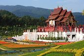stock photo of royal botanic gardens  - ROYAL FLORA RATCHAPHRUEK International Horticulture Exposition for His Majesty the King in Chiangmai - JPG