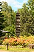 picture of buddhist  - Buddhist pagoda in the Botanical garden - JPG