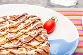 foto of french-toast  - French toast with mayonnaise and chocolate cream for breakfast - JPG