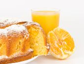 foto of orange  - Orange cake with orange juice and orange - JPG