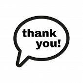 stock photo of thankful  - The thank you  icon - JPG