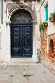 image of synagogue  - The door of the Spanish Synagogue Cannaregio Venice Veneto Italy - JPG