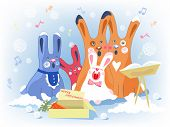 Rabbits Christmas Chorals