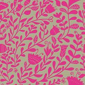 Bright floral seamless pattern