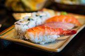 Closeup Of Japanese Nigiri Sushi poster