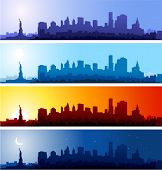 picture of new york skyline  - New York City - JPG
