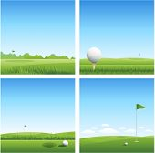 pic of golf  - Four golf backgrounds - JPG