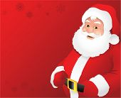 Red santa claus background