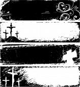 Banners cristianos Grunge