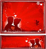 Valentine's day background wedding card