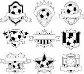 Vector soccer badge