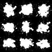 Dirty white paint splat
