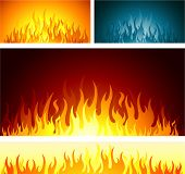 Flames design background