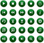 Iconos de los medios de comunicación verde