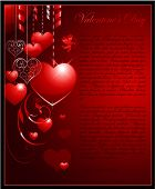 Valentine's day vertical background with heart and place for text