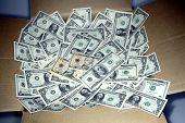 Lots of money inside a box