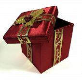 picture of christmas-present  - An open Christmas present box  - JPG