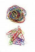 foto of rubber band  - Rubber bands and paper clips - JPG