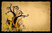picture of tawdry  - vector illustration old rusty antique paper background - JPG