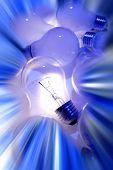 One bright light bulb