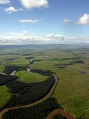picture of canaima  - The large river acros the green jungle - JPG