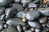 Closeup of assorted smooth stones