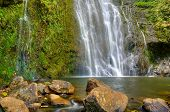 Tropical Lush Waterfall, Hana, Maui, Hawaii