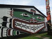 Haida Painting On Side Of Cedar House