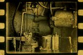 Vintage Mechanism. Steampunk  Abstract Background.