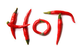 picture of red hot chilli peppers  - Red hot chilli peppers spelling the word  - JPG