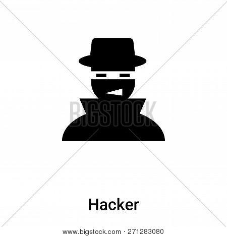 Hacker Icon In Trendy Design