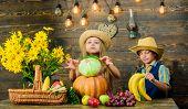 Elementary School Fall Festival Idea. Autumn Harvest Festival. Celebrate Harvest Holiday. Children P poster