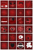 Happy Valentines Day Card. Set Of Calligraphic Quotes. Typographic Background. Hand Lettering Text I poster