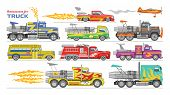 Jet Truck Vector Afterburning Race Car And Flamy Drag Racing On Speedcar On Sport Event Racetrack Il poster