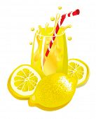 Lemonade (vector). In the gallery also available XXL jpeg image made from this vector