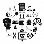 Scientific Research Icons Set. Simple Set Of 25 Scientific Research Icons For Web Isolated On White  poster