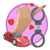Love And Passion Of Human Desire To Quickly Create A Comfort And Wealth, Cars, Money, And Ready To H poster