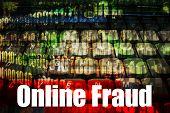 Fraude on-line Web on-line quente segurança tópico