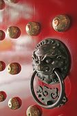 China Town Temple Door Handle Guardian poster