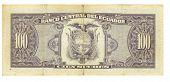 100 Sucre Bill Of Ecuador, 1994 poster