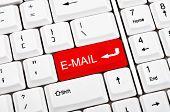 Chave de e-mail em vez de inserir a chave