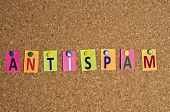 Antispam word made of post it
